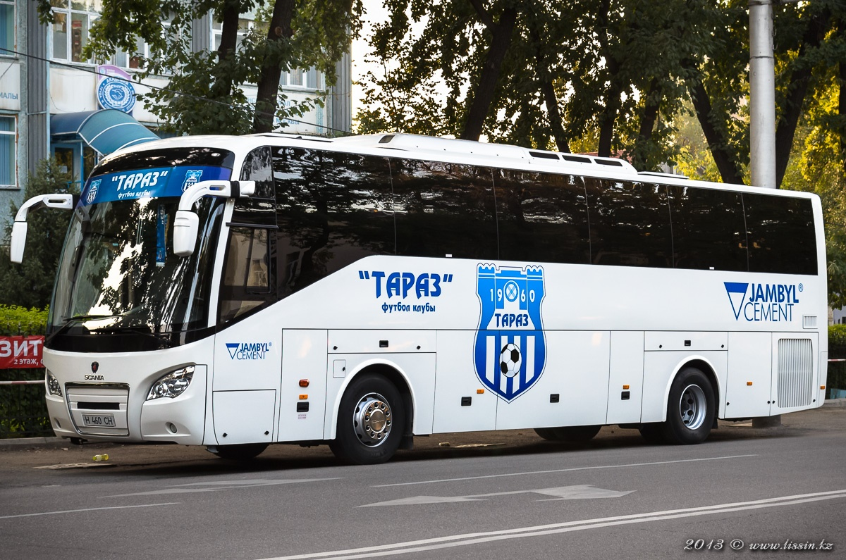 """Автобус футбольного клуба """"Тараз"""" Scania Higer A80, № H460CH, 18.08.13г. #1"""