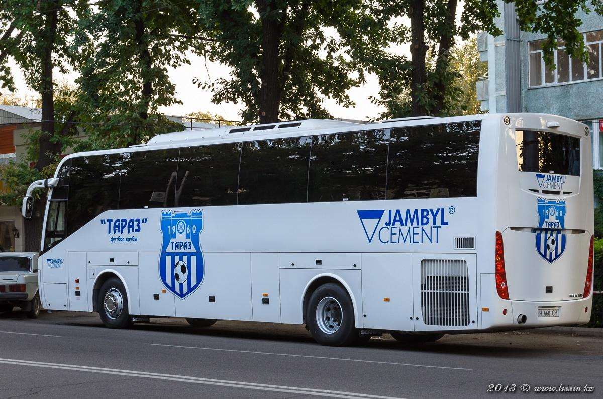 """Автобус футбольного клуба """"Тараз"""" Scania Higer A80, № H460CH, 18.08.13г. #2"""