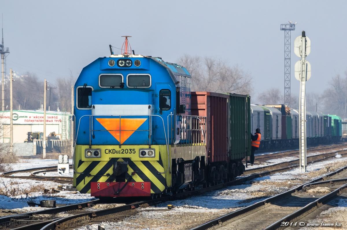 CKD6E-2035 на станции Жетысу, 12.01.14г.