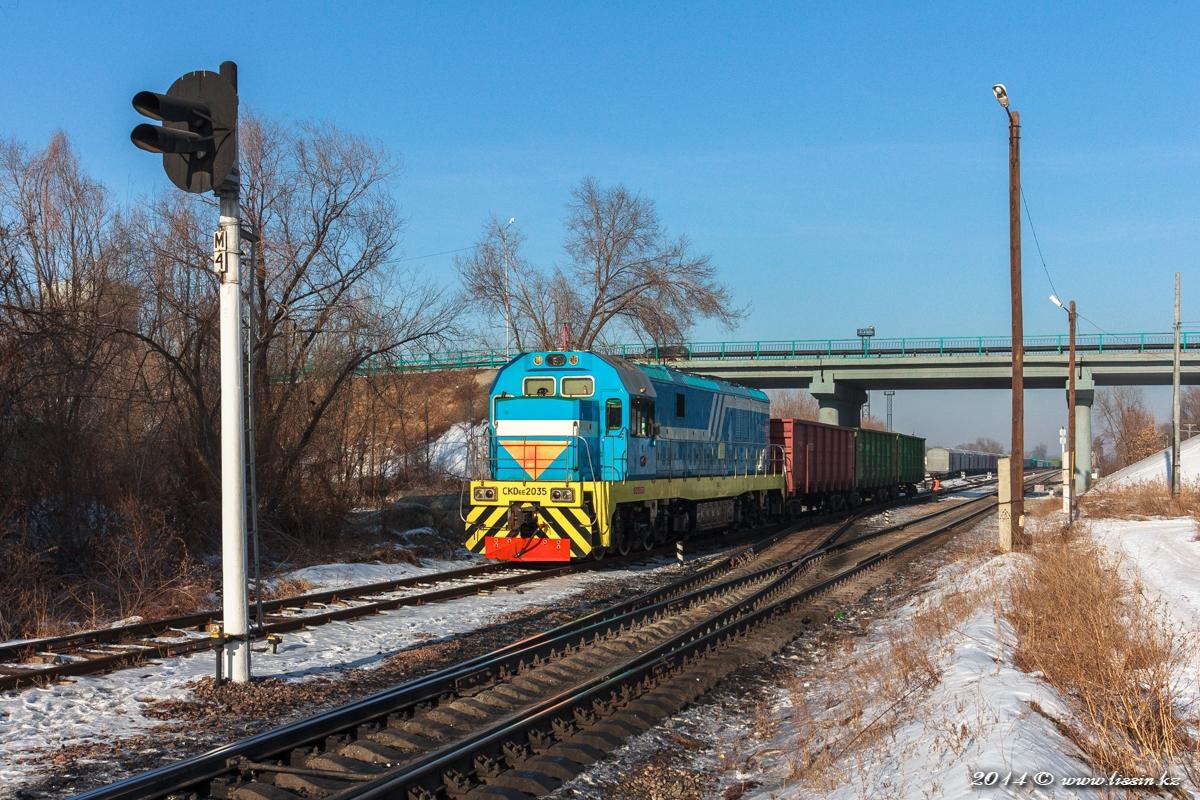 CKD6E-2035 на станции Жетысу, 12.01.14г. #1