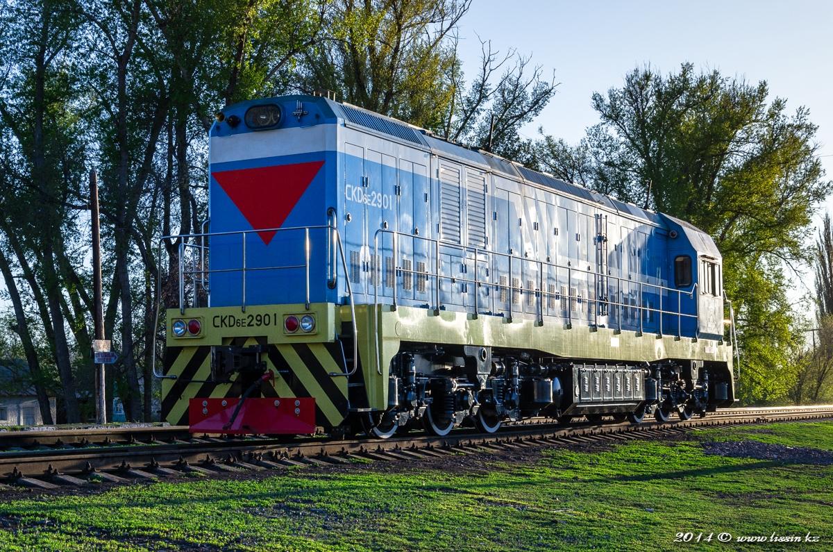 CKD6E-2901 на станции Тентек в Балпык-Би, 26.04.14г. #2