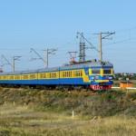 Электропоезд ЭР22-50, около СПЗ, 01.09.14г.