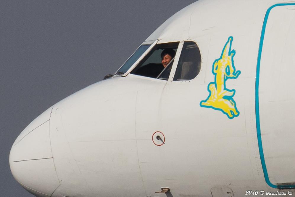 UP-F1011 Bek air Fokker F100 in Almaty International Airport, 07.02.16г. #2