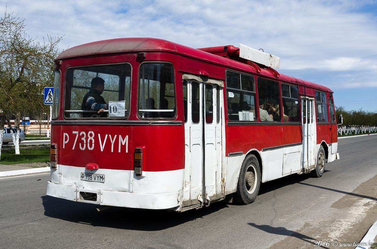 ЛиАЗ-677 P738VYM, г. Рудный, Костанайская область, Казахстан, 27.04.16г. #1