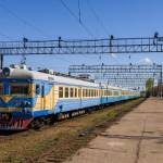 ЭР22-64 на станции Степногорск, 25.04.16г.