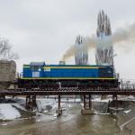 ТЭМ2-7744 на путях ППЖТ-2 Алматы, 03.03.17г.
