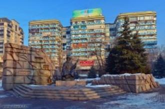 Памятник Жамбылу в Алма-Ате