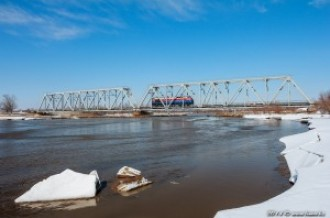 Мост через реку Каскелен, 10.03.14г