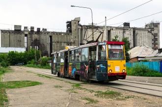 Усть-Каменогорский трамвай, КТМ 71-605 № 75, 03.07.14г