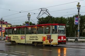 Усть-Каменогорский Трамвай, КТМ 71-605 № 63, 03.07.14г