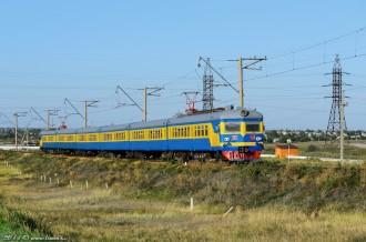Электропоезд ЭР22-50, около СПЗ, 01.09.14г