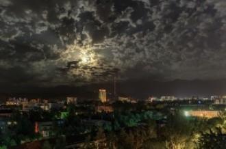 Июльской ночью в Алма-Ате, 2015г