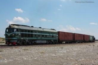 DF4B-7264 на перегоне Хоргос (КНР)— Алтынколь (Казахстан), 10.07.15