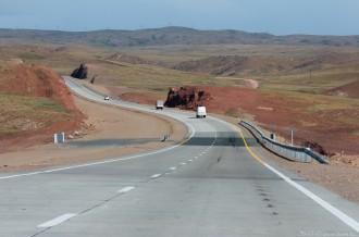 Новая трасса минуя Кордайский перевал, 170-ый км