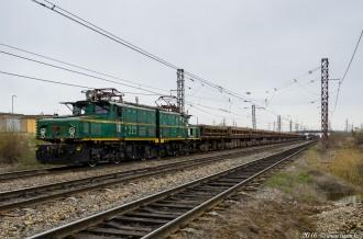 Промышленный электровоз EL21-223, 01.05.16г