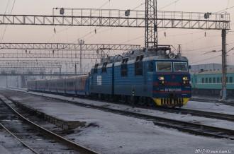 ВЛ80С-1386 на станции Алма-Ата-2, 02.01.17г