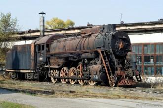 Паровоз Л-3932 в депо ст. Алма-Ата-1