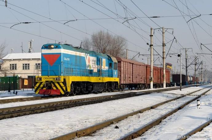 CKD6E-2056 на станции Алматы-1, 10.02.18г
