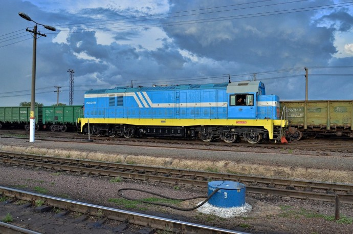 CKD6E-2039 на ст.Актогай, 29.06.12г