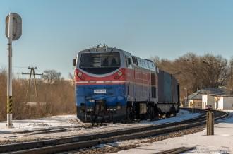 ТЭ33АС-0013 на станции Жоломан, 23.02.19г