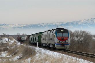 CKD9C-7791 на перегоне Жетыген— Илийская, 17.02.19г