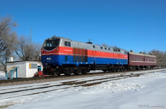 ТЭ33АС-0017 на станции Жоламан, 23.02.19г