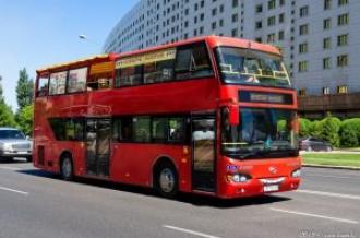 Автобус Higer KLQ6109GS по улицам Нур-Султана, 10.07.19г