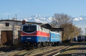 ТЭП33АС-0023 на станции Алматы-1, 09.11.19г
