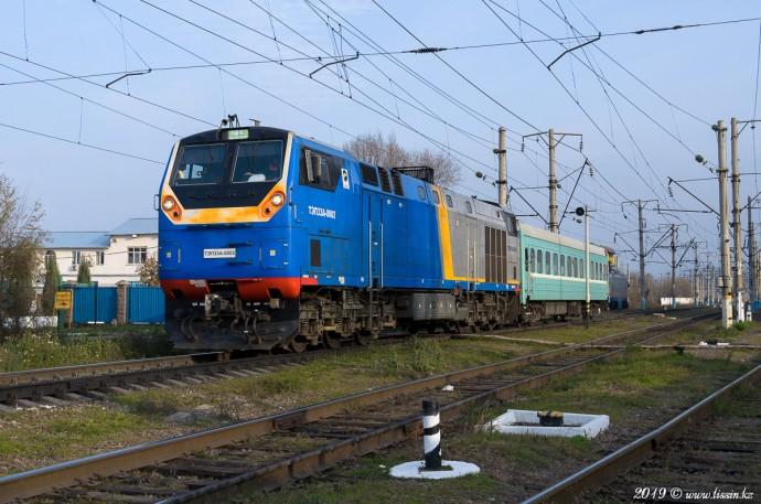 ТЭП33А-0002 на станции Алматы-1, 15.11.19г