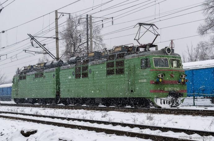 ВЛ80С-1840 на станции Алматы-1, 16.01.20г