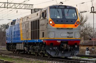 ТЭП33А-0001 на станции Алматы-1, 21.03.2020г