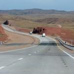 Новая трасса минуя Кордайский перевал, 170-ый км.
