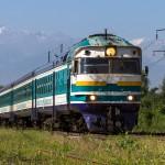 Дизель поезд DR1B-3717 Алма-Ата-1 — Капчагай, 16.07.16г.