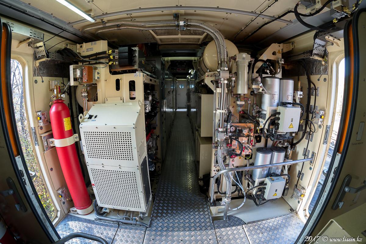 Машинное отделение французского пассажирского электровоза KZ4AT концерна ALSTOM.