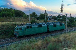 ВЛ80С-443 на перегоне Бурундай - Алматы-1, Алматинская область, 19.08.18г. #1
