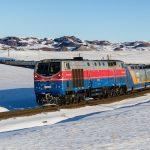 ТЭ33А-0239 с поездом Talgo на пергоне Сайлы — Жоламан, 23.02.19г.