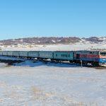 ТЭ33А-0275 с поездом №352 Оскемен — Алматы, 23.02.19г.