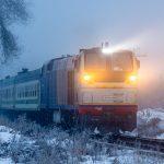 ТЭП33А-0004 с поездом УТЙ №369 Новосибирск — Ташкент, 11.01.20г.
